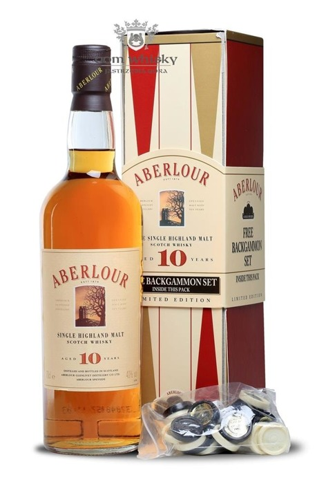 Aberlour 10-letni with Backgammon Set / 40% / 0,7l