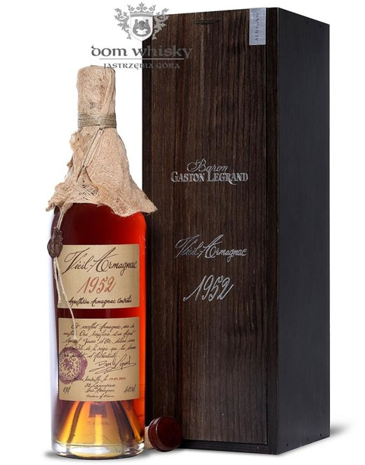 Armagnac Baron Gaston Legrand 1952 / 40% / 0,7l