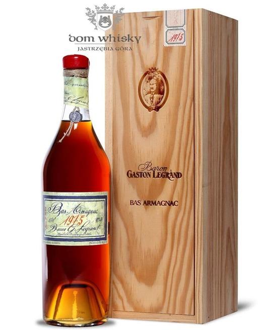 Armagnac Baron Gaston Legrand 1975 / 40% / 0,7l