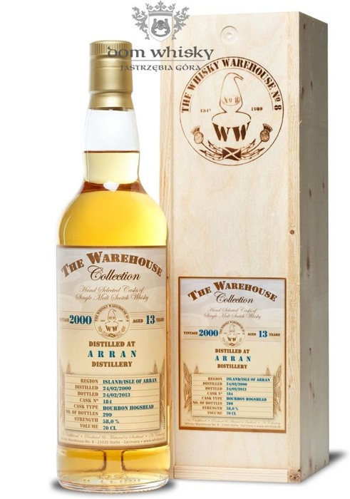 Arran 2000, 13-letni, The Warehouse Collection /58%/0,7l