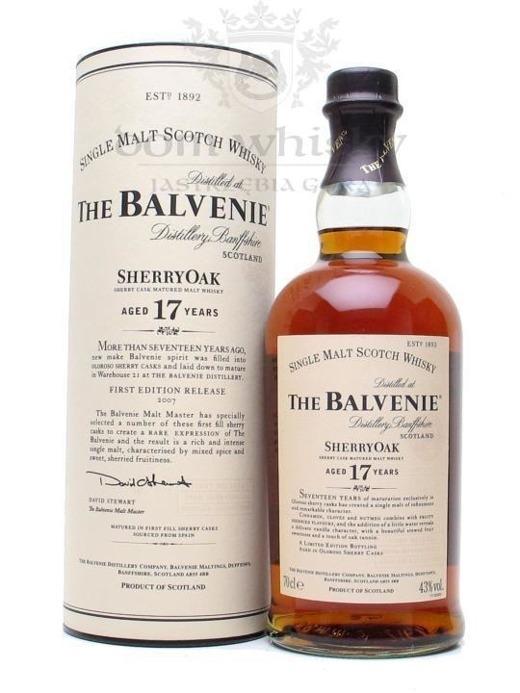Balvenie Sherry Oak, 17-letni / 43% / 0,75l
