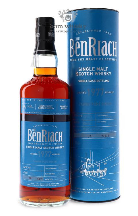BenRiach 1977 Tawny Port Finish, 38-letni (Port Hogshead # 3111) / 43,1% / 0,7l