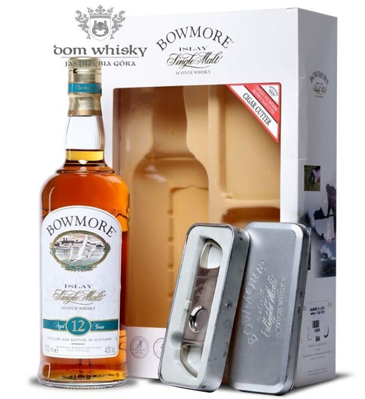 Bowmore 12-letni (with Cigar Cutter) / 40% / 0,7l