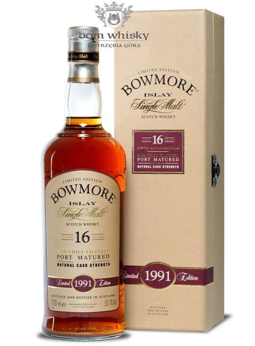 Bowmore 1991, 16-letni, Port Matured / 53,1% / 0,7l