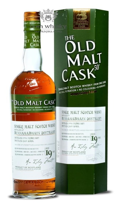 Bunnahabhain 19-letni (D.1990, B.2009) Old Malt Cask / 50% / 0,7