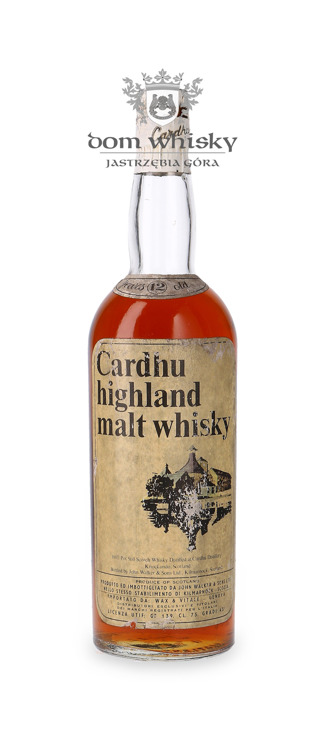 Cardhu 12-letni (Bottled 1970s) / 43% / 0,75l