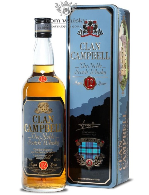 Clan Campbell 12-letni / Tin Box / 40% / 0,7l