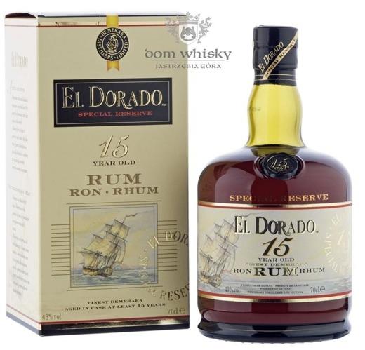 El Dorado Rum 15 letni (Guyana) / 43% / 0,7l