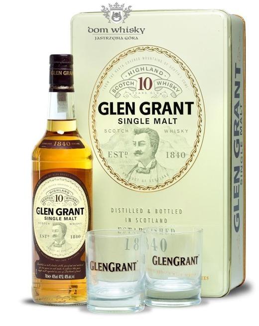 Glen Grant 10-letni  (dwie szklanki gratis) / 40% / 0,7l