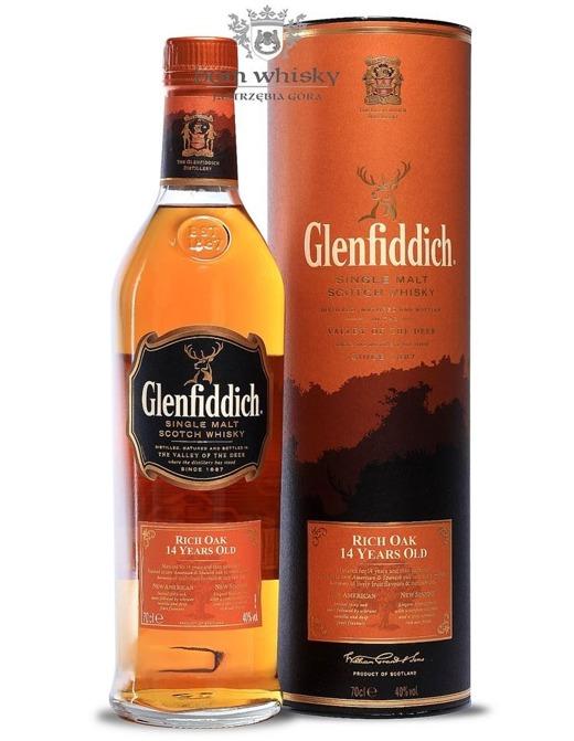 Glenfiddich 14-letni Rich Oak / 40% / 0,7l