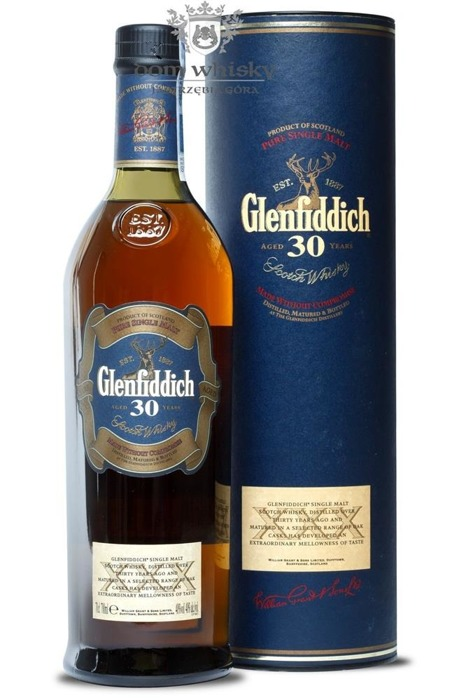 Glenfiddich 30-letni (Old Presentation/Bez opakowania) / 40% / 0,7l