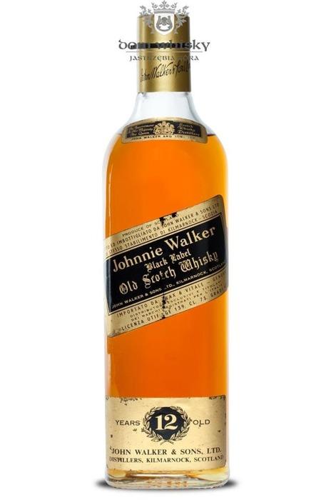 Johnnie Walker Black 12 letni /IT/ 40% / 0,75l