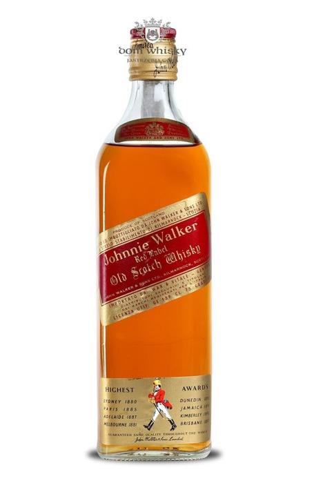 Johnnie Walker Red Label 1970's / 40% / 0,75l