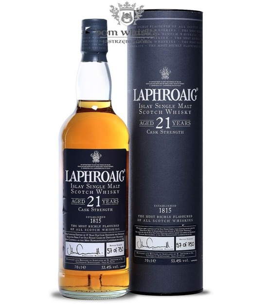 Laphroaig 21-letni Cask Strength (Heathrow Terminal 5 Exclusive) / 53,4%/ 0,7l