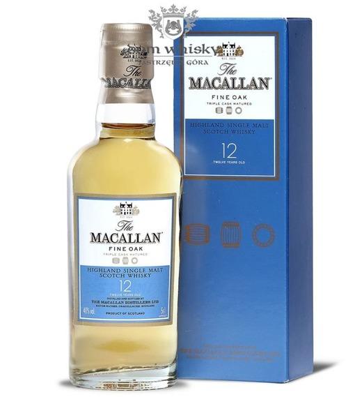 Macallan 12-letni Fine Oak (Triple Cask Matured) /40%/0,05l