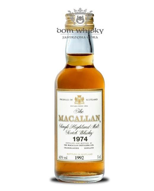 Macallan 18 letni D.1974 B.1992 / 43% / 0,05l