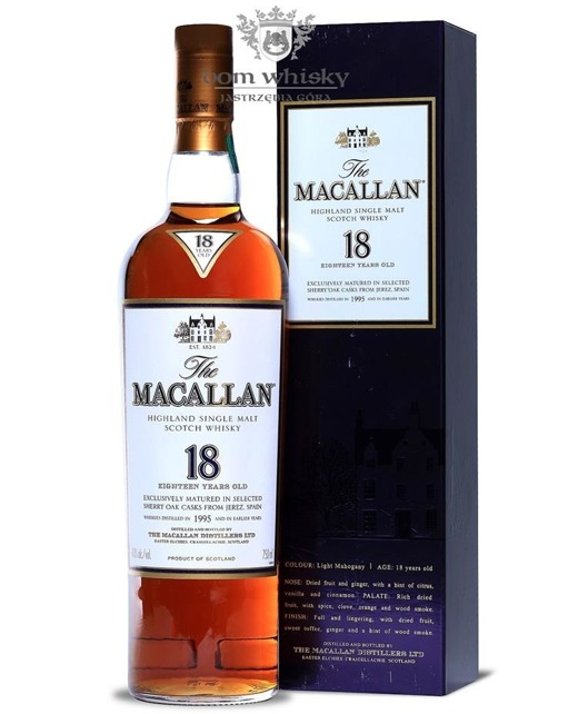 Macallan 1995 Sherry Oak, 18-letni / 43%/ 0,75l