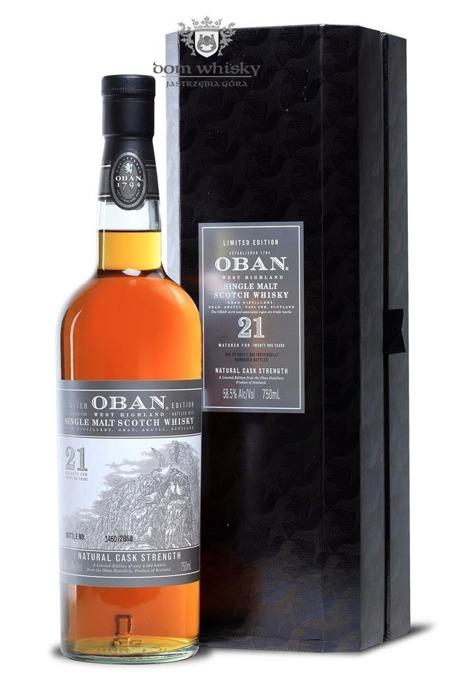 Oban 21-letni (2013 Release) Cask Strength / 58,5%/ 0,75l