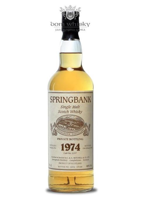 Springbank D.1974 B.2003 Cask no. 1157 / 46% / 0,7l
