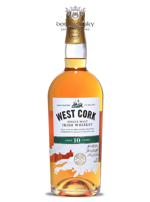 West Cork Irish SIngle Malt, 10-letni / 40% / 0,7l